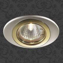 Светильник встраиваемый 369301 NT09 302 перламутр.хром/золото НП IP20 GX5.3 50W 12V IRIS - 321 руб.