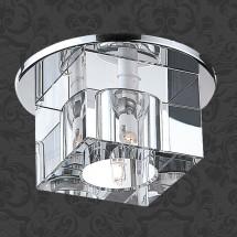 Светильник встраиваемый 369381 NT09 235 хром/прозрачный IP20 GX6.35 50W 12V CUBIC - 687 руб.