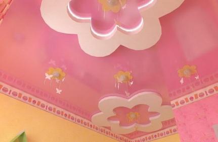 натяжные потолки для девочки фото