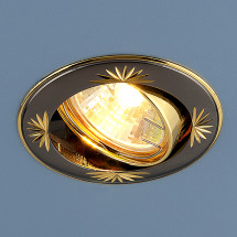 Точечный светильник 104A GU/GD черный / золото 180р