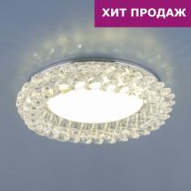 Точечный светильник с хрусталем 1063 GX53 CH / CL хром / прозрачный 500р