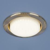 Встраиваемый точечный светильник 1067 GX53 SN/GD сатин никель/золото 250р