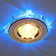 Точечный светильник светодиодный 2020/2 GD/LED/BL MR16 (золото / синий) 450р