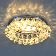 Светильник точечный с хрусталем 206 CH/CLEAR MR16 (хром/прозрачный) 350р