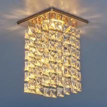 Светильник точечный с хрусталем 207 MR16 золото/прозрачный MR16 (GD/Clear) 600р