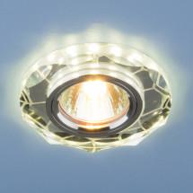 Встраиваемый потолочный светильник со светодиодной подсветкой 2120 MR16 SL зеркальный/серебро 450р