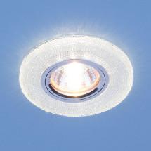 Встраиваемый потолочный светильник со светодиодной подсветкой 2130 MR16 CL прозрачный 450р