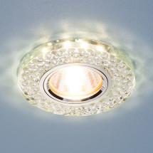 Встраиваемый потолочный светильник со светодиодной подсветкой 2140 MR16 SL зеркальный/серебро 450р