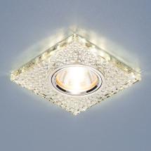 Встраиваемый потолочный светильник со светодиодной подсветкой 2150 MR16 SL зеркальный/серебро 450р