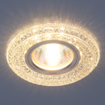 Встраиваемый потолочный светильник со светодиодной подсветкой 2160 MR16 CL прозрачный 450р