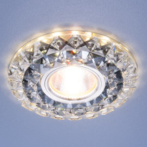 Встраиваемый потолочный светильник со светодиодной подсветкой 2170 MR16 SBK CL дымчатый прозрачный 600р