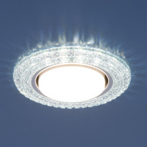 Точечный светильник со светодиодами 3030 GX53 CL прозрачный 450р
