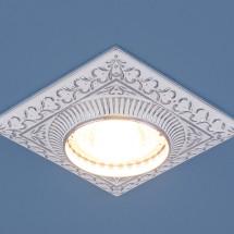Точечный светильник для подвесных, натяжных и реечных потолков 4104 белый/хром MR16 230р