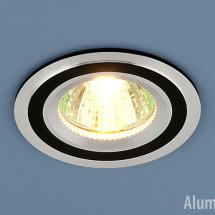 Алюминиевый точечный светильник 5305 MR16 хром/черный 200р