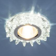 Точечный светодиодный светильник с хрусталем 6037 MR16 SL зеркальный/серебро 500р