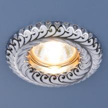 Точечный светильник 7001 MR16 WH/SL белый/серебро 200р
