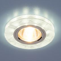 Точечный светильник светодиодный 8371 MR16 WH/SL белый/серебро 500р