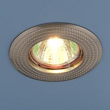 Точечный светильник круглый 601 (сатинированный никель) 130р