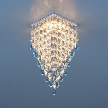 Встраиваемый потолочный светильник 2010 хром/прозрачный/голубой MR16 (СH/Clear/BL) 400р
