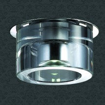 Светильник встраиваемый 357007 NT09 408 хром/прозрачный 1LED 1W 220V CRYSTAL-LED - 276 руб.