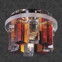 Светильник встраиваемый 369353 NT09 240 хром/прозрачно-янтарный IP20 G9 40W 220V CARAMEL 3 - 825 руб.