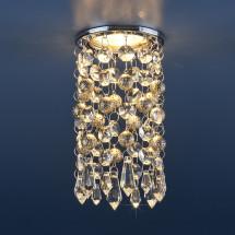 Встраиваемый потолочный светильник 2029 золото/прозрачный MR16 (CH/Сlear)458р