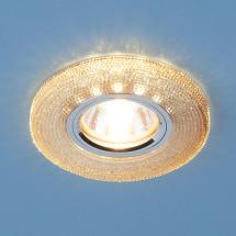 Встраиваемый потолочный светильник со светодиодной подсветкой 2130 MR16 GС тонированный 602р
