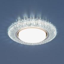 Точечный светильник со светодиодами 3020 GX53 CL прозрачный 598р