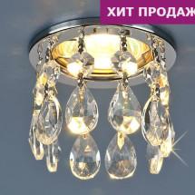 Светильник точечный с хрусталем 2055 CH/Clear MR16 (хром / прозрачный хрусталь) 350р