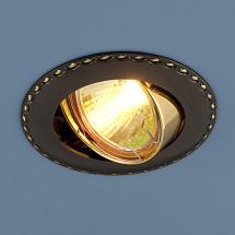 Точечный светильник для натяжных и подвесных потолков 635 GMG (черный/золото) 205р