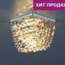 Встраиваемый потолочный светильник 2009 хром/тонированный/прозрачный MR16 (СH/GC/Clear) 335р